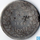 Netherlands 25 cent 1849 (William III)