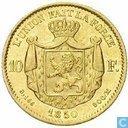 Belgium 10 francs 1850
