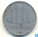 DDR 1 pfennig 1962