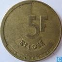 Monnaies - Belgique - Belgique 5 francs 1986 (NLD)
