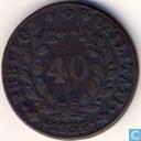 Portugal 40 reis 1834