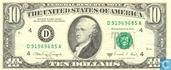 Dollars des États-Unis 10 1988 D