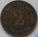 Deutsches Reich 2 Pfennig 1876 (C)