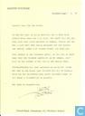 Brief + handtekening van Marten Toonder