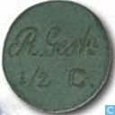 Halve cent 1860 Rijksgestichten Ommerschans en Veenhuizen