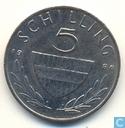 Austria 5 schilling 1986