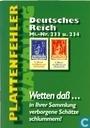 Deutsches Reich Mi.-Nr. 233 u. 234