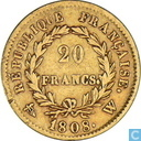 France 20 francs 1808 (W)