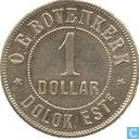 Nederlands-Indië 1 dollar 1886 Plantagegeld, Sumatra, Dolok Estate
