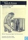 Comic Books - Stichting Hans G. Kresse nieuwsbrief (tijdschrift) - Nieuwsbrief sept: 2000