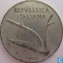 Italië 10 lire 1953