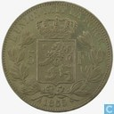 België 5 francs 1865/55