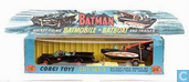 Batman's Batmobile and Batboat on trailer