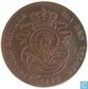 Belgium 2 centimes 1847