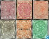 1873 la reine Victoria-angle couleur des lettres (GRB 17)