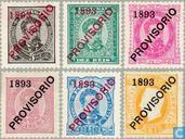 1893 King Luis-je imprimer Provisorio (POR 22)
