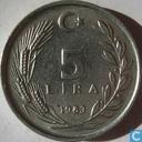 Turkey 5 lira 1983
