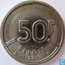 Monnaies - Belgique - Belgique 50 francs 1987 (NLD)