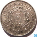South Africa 3 pence 1924