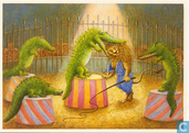 Voor het Kind-krokodillen in circus