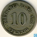 German Empire 10 pfennig 1875 (B)