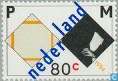 Postage Stamps - Netherlands [NLD] - Piet Mondrian 50th death anniversary