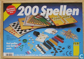 200 Spellen - Dennenhouten Kist