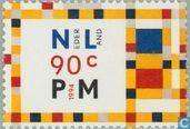 Timbres-poste - Pays-Bas [NLD] - Piet Mondrian 50e anniversaire de la mort