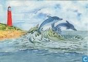 (Vuurtoren met dolfijnen)