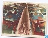 DC-6 vliegtuig in dok