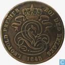 Belgium 2 centimes 1845