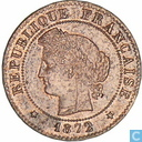 Frankrijk 1 centime 1872 (K)