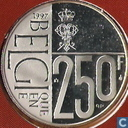 "België 250 francs 1997 ""60th Birthday of Queen Paola"""
