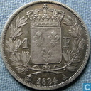 Frankrijk 1 franc 1824 (A)