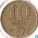 Hongarije 10 forint 1985