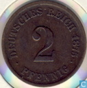 German Empire 2 pfennig 1875 (F)