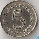 Malaysia 5 sen 1976