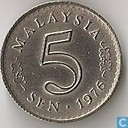 Maleisië 5 Sen 1976