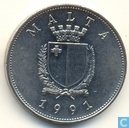 Malta 1 lira 1991