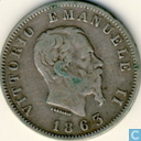 Italy 1 lira 1863 (L.1, M BN)