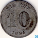 Sweden 10 öre 1884