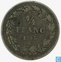 Belgium ¼ franc 1843