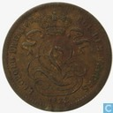 Belgique 1 centime de (Overstrike 1833/2 on Netherland ½ cent)