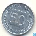 Slovénie 50 stotinov 1992