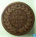 France 1 décime 1814 (L - DÉCIME. 1814.)