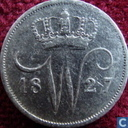 Nederland 10 cent 1827 B