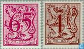 Wertzahl über heraldischem Löwen und Banderole
