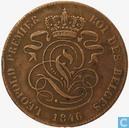 Belgium 2 centimes 1846