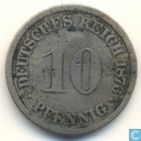 Empire allemand 10 pfennig 1876 (J)