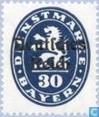 Überdrucken auf Briefmarken Bayern